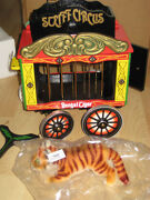 Steiff Vintage Circus Train Bengal Tiger Mint In Original Package Wagon Mint