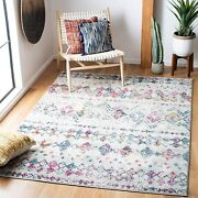 Safavieh Madison Collection Mad798j Moroccan Boho Distressed Area Rug 4and039 X 6and039