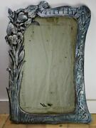 Art Nouveau Carved Wood Mirror Late 19th / Early 20th Century 30 X 22