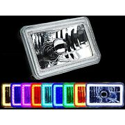 1 4x6 Color Change Rgb Smd Led Halo Angel Eye Headlight 60w Halogen Light Bulb