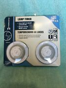 Intermatic Plug In Lamp Timer Twin Pack Brand New Sealed Package