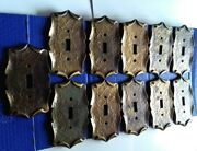 Lot Of 11 Vtg. Amerock Carriage House Brass Light Switch Cover Plates