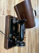 Singer Sewing Machine - Vintage Rare In Original Bentwood Case Antique 1920and039s