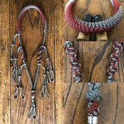 Paracord Duck Goose Waterfowl Predator Call Lanyard Grey And Red With Diamonds