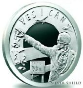 1 Oz .999 Pure Silver Shield Proof Seven Sins Of Obama Round Coin Wastweet 2014