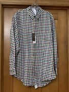 Buck And Buck Adaptive Clothing Plaid Flannel L Tall Snap Back Elderly Disabled