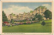 The Lakeside Hotel And Gardens, Eagles Mere Pa Postcard