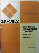 Gravely Walk Behind 5200 5660 5260 5240 5220 Lawn Garden Tractor Owners Manual