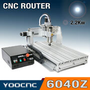 Usb 3 Axis 6040 2.2kw Cnc Router Engraver Engraving Milling Machine Mach3
