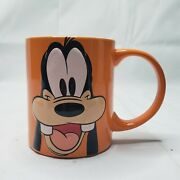 Disney Goofy Jerry Leigh Orange 11 Oz Coffee Cup Mug 3d Collectible Rare Cute