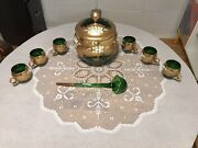 Bohemia Crystal Decanter And 6 Pics Glasses. Without Box, Made In Czech
