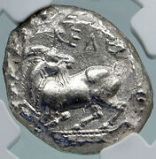 Kelenderis In Cilicia Horse Rider Goat Silver 425bc Greek Stater Coin Ngc I86956
