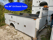 Used 84 Ca Truck Body Dually Utility Bed Tb342 Headache Rack And Emergency Lights