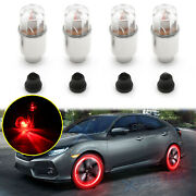 Racing Red Led Wheel Tyre Tire Air Valve Stem Light For Honda Civic Accord S2000