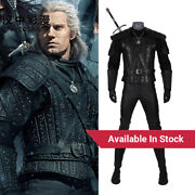 Hzym The Witch Geralt Of Rivia Cosplay Costume Leather Armor Halloween Outfit