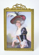 19th Century Kpm Style Hand Painted Porcelain Plaque Elisabeth Of France By Brun