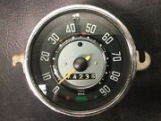 Vw Aircooled Beetle Speedo Without Fuel Gauge 62-67 Manuf. Date 2-65 4