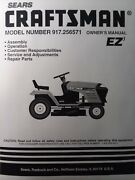 Sears Craftsman Hydro 19.0 Hp 42 Lawn Tractor Owner And Parts Manual 917.256571