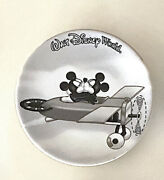 Walt Disney World Mickey And Minnie Mouse Black White Mini Collector Plate 3