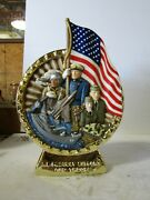 Jim Beam Iajbbsc 22k Gold We Support Our Troops Decanter 6 Of Only 25 Made