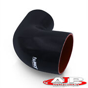 Universal 2.5 To 2.25 90 Elbow Black Silicone Reducer Coupler Tube Hose Pipe