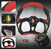 320mm For 92-96 Prelude Interior Set Up Steering Wheel + Hub Adapter Horn Button