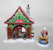 Mrs Claus She Shed Dept 56 And Disney North Pole Silver Series Village Lighted New