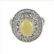 Hsn Victoria Wieck Ethiopian Opal And Topaz Sterling Frame Ring 10 399