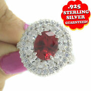 Hsn Jean Dousset 6.32 Ct Absolute And Created Ruby Cluster Ring Size 8