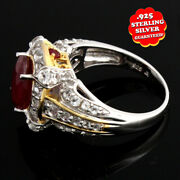 Hsn Victoria Wieck Ruby White Topaz 925 Sterling 2 Tone Ring 8 399