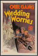 Our Gang In Wedding Worries Vintage One Sheet Movie Poster