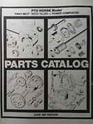 Troy-bilt Horse Opc Roto Tiller Parts Catalog Manual Pto Tine Cluch Sn855639-up