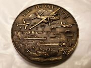 1994 1944 French Medal D Day Us Army Frees Normandy 71mm