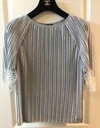 Very Rare 16a Paris Rome Most Wanted Metallic Lace Top Blouse 38 New