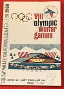 1960 Squaw Valley Winter Olympics Official Daily Program Day 7 Feb. 24 1960