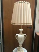 Vintage Italian Urn Marble Table Lamp For Marbro Lamp Co., 42 Tall, 12 Widest