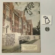 1931 Double Header Eastern And Central @ Michigan Original Football Program Gd+