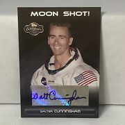 2007 Topps Co-signers Moon Shot Walter Cunningham Auto Astronaut Rare R