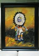 Kachina Doll Oil Painting By Jean Offner Signed Original 2008