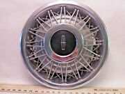 One Vintage 1970and039s Lincoln 16 Wire Wheel Hubcap- O15