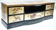 Oriental Furniture 60 Tv Cabinet Chinese Gold Leaf Lacquer Tv Stand