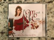 Mariah Carey Signed Autographed In Silver All I Want For Christmas Is You Cd