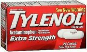 Tylenol Extra Strength Caplets 500 Mg - 24 Ct Pack Of 36