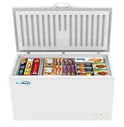 Chest Freezer 16 Cu. Ft. With Adjustable Thermostat For Home/commercial White
