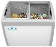 Commercial Ice Cream Chest Freezer 12 Cu. Ft. With Adjustable Thermostat White