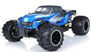1/5th Exceed Rc Hannibal 30cc Gas Off-road Monster Truck 2.4ghz Rtr Aa Blue New