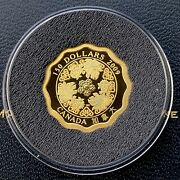 2009 Blessings Of Wealth Canada Lotus Shaped 150 .99999 Gold Coin