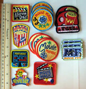 Girl Scout Guide Lot 17 Movie - Fun Patches Theater Cinema Day Magic Badge New