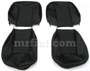Fiat 850 Sport Coupe Black Seat Covers New