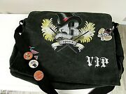 Britney Spears Vip Big Apple Circus Messenger Bag With 3 Buttons Ansd Keychain